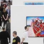 """MOSCOW, RUSSIA - FEBRUARY 12, 2019: Visitors view an exhibition of photographs by Gaby Herbstein, at the 11th Moscow International Biennale, Fashion and Style in Photography, at Moscow's Manezh Central Exhibition Hall. Sergei Fadeichev/TASS  Ðîññèÿ. Ìîñêâà. Íà âûñòàâêå ðàáîò àðãåíòèíñêîé õóäîæíèöû Ãàáè Õåðáøòåéí î íàðîäíîì ïðàçäíèêå La Diablada, îòêðûòîé â ðàìêàõ XI Ìîñêîâñêîé ìåæäóíàðîäíîé áèåííàëå """"Ìîäà è ñòèëü â ôîòîãðàôèè-2019"""" â ÖÂÇ """"Ìàíåæ"""". Ñåðãåé Ôàäåè÷åâ/ÒÀÑÑ"""